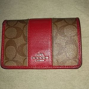 Used Red Coach wallet